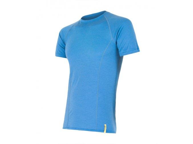 Sensor merino active pánské triko krátký rukáv modré