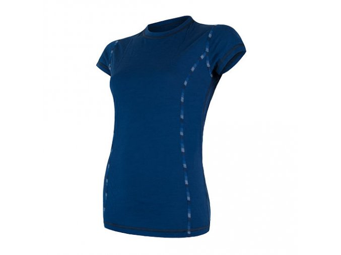 Sensor merino air dámské triko modré