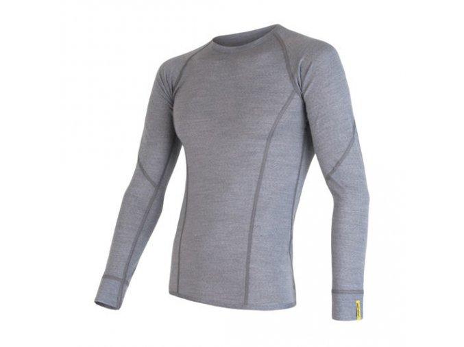 Sensor merino active, pánské merino triko, dlouhý rukáv, šedá