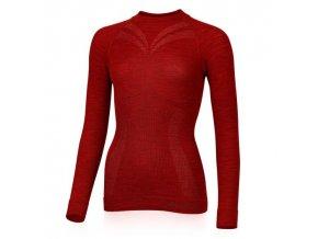 lasting damske merino triko matala cervene