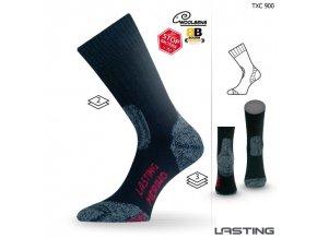 lasting merino ponozky txc cerne
