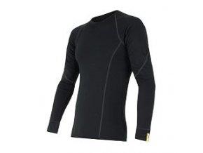 Sensor merino active, pánské merino triko, dlouhý rukáv, černá