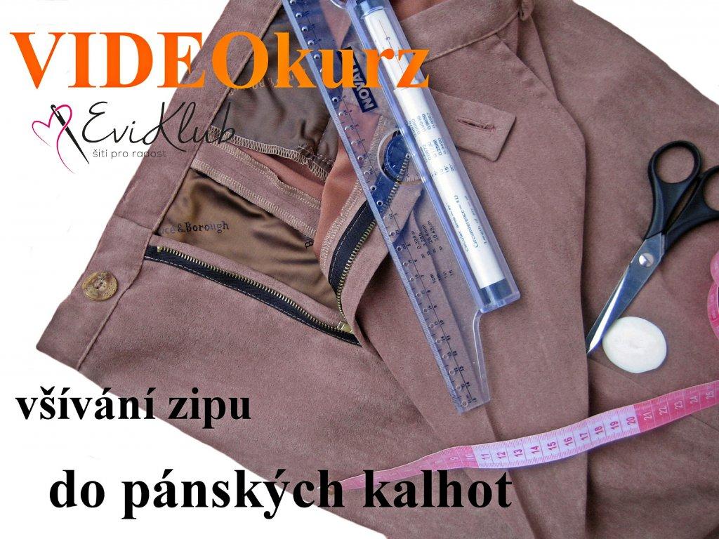 zip do pánských kalhot