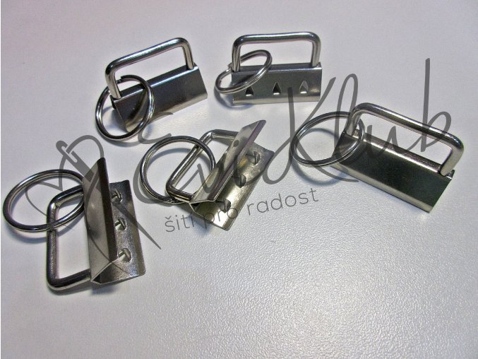 koncovka na klíčenky s kroužkem - NIKL