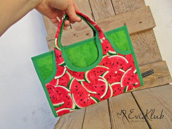 melounový lemovaný