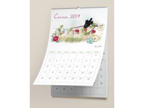 Free Wall Calendar Mockup 2