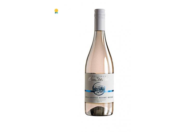 Rulandské Modré Rosé, Výběr z Hroznů, 2018, 8 Století, Víno z Kobylí