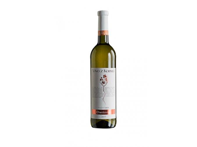 Chardonnay, Pozdní Sběr 2017, Víno z Kobylí
