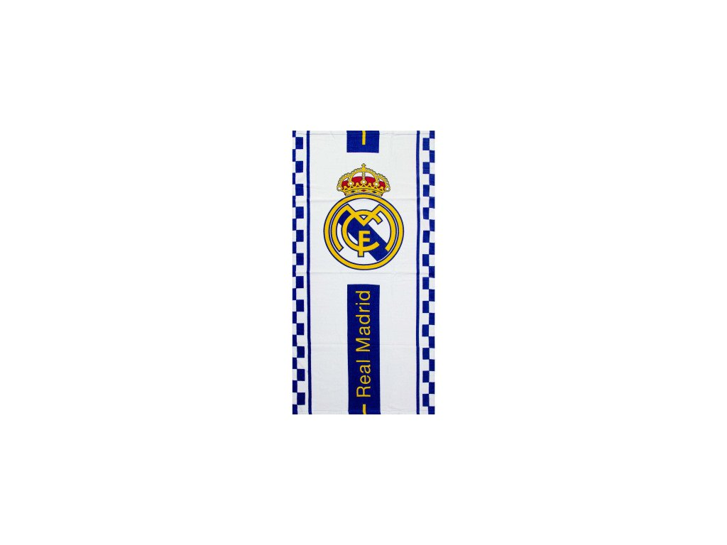 real madrid football club beach towel