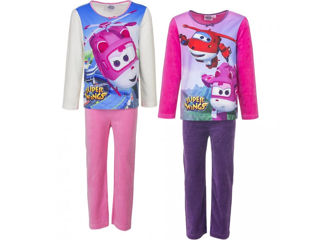 hq2134 wholesale pyjamas for girls super wings characters distributor