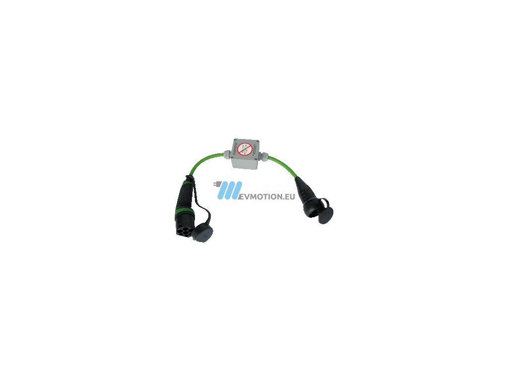 Adapter Type 2 male - IEC 230V 16A socket with key