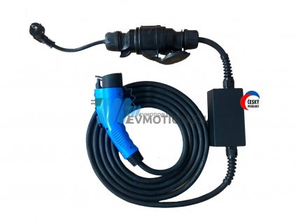 Portable charger with RCD   Type 1   6-32A max. 7,4 kW