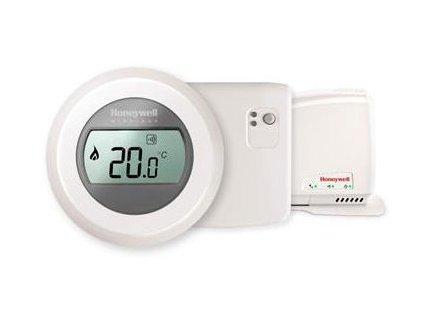 Bezdrátový jednozónový prostorový termostat ROUND Honeywell Y87RFC2074 sada termostat, relé, gateway
