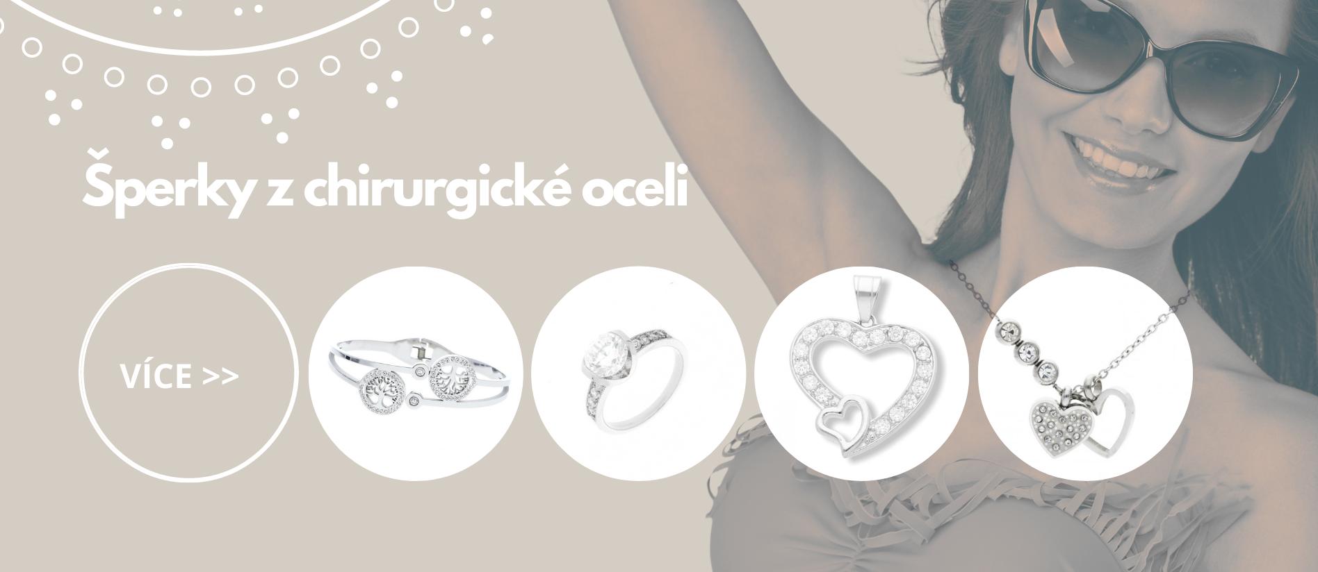 Šperky z chirurgické oceli