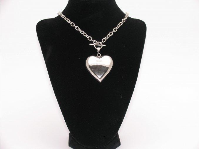Přívěsek srdce s řetízkem  + dárkové balení