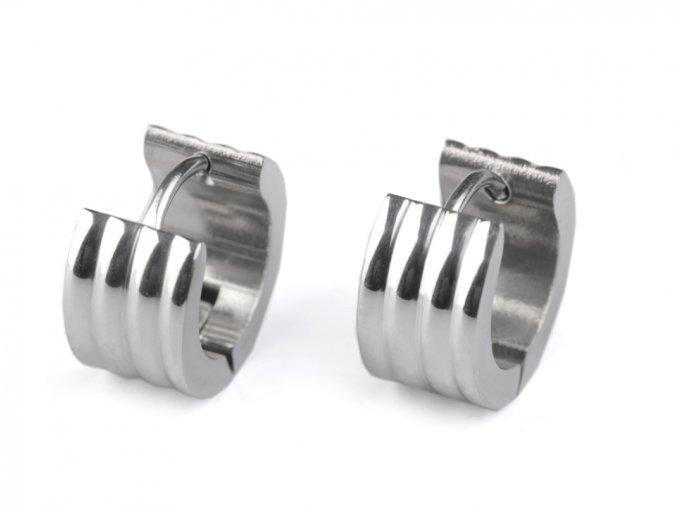 Náušnice kroužky z nerezové oceli
