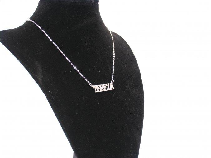 Přívěsek jméno Tereza s řetízkem + dárkové balení