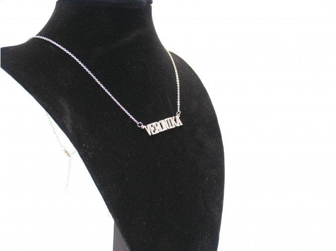 Přívěsek jméno Veronika s řetízkem  + dárkové balení