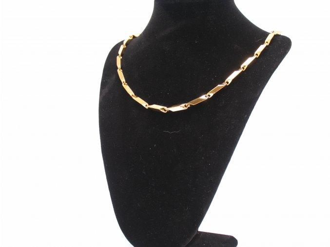 Řetízek z chirurgické oceli GOLD  + dárkové balení