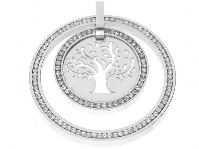 Řetízek s přívěskem strom života s krystaly  + dárkové balení