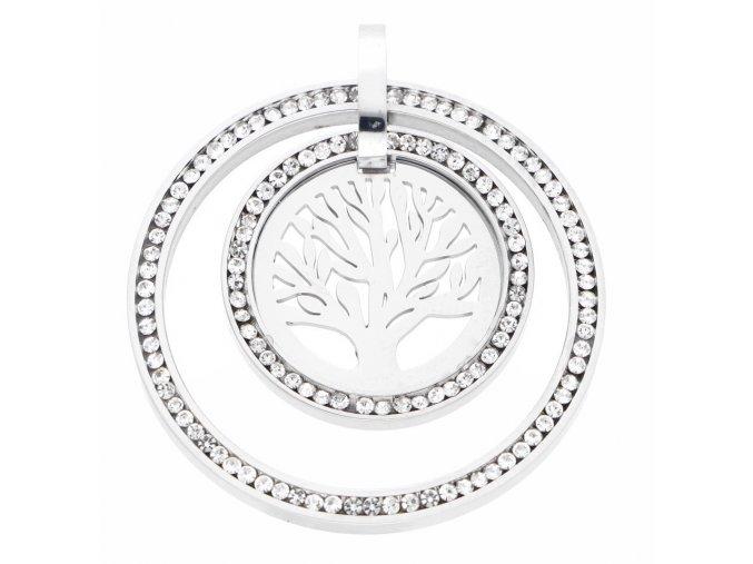 Řetízek s přívěskem strom života s krystaly