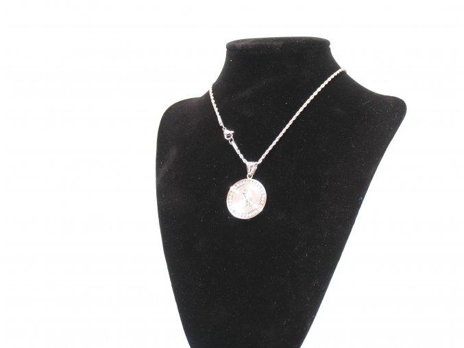Přívěsek medailon Madonka s řetízkem s krystalky