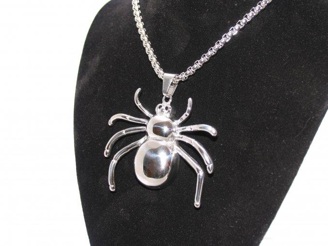 Ocelový přívěšek pavouk s řetízkem  + dárkové balení