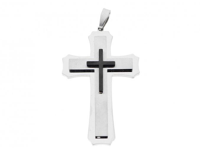 Ocelový kříž s řetízkem
