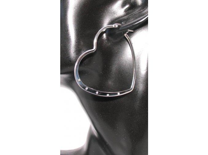 Náušnice ocelové srdce  + dárkové balení
