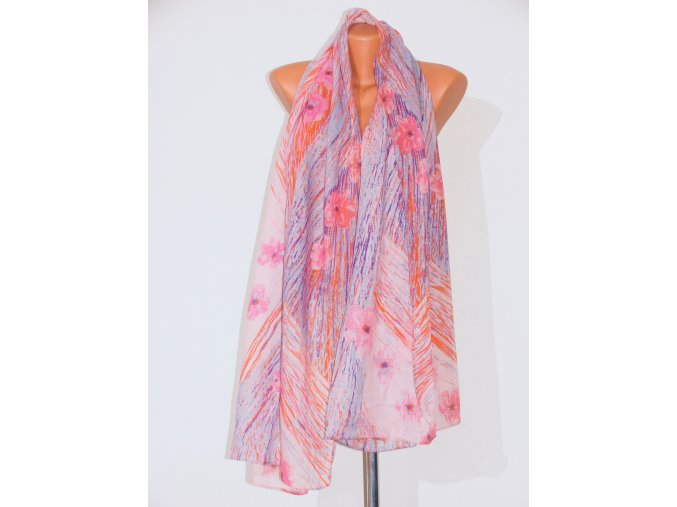 Šátek dlouhy se vzorem 170x80 cm