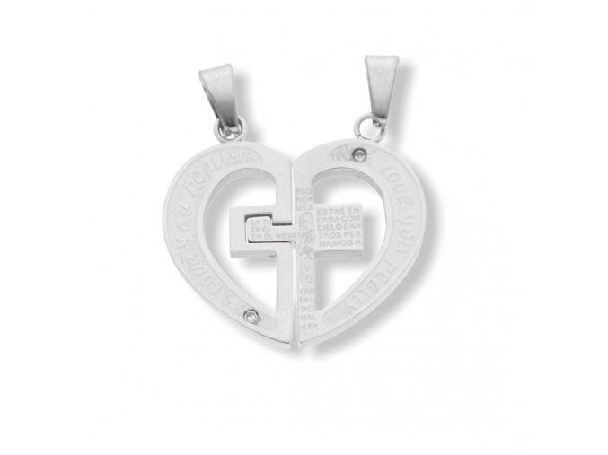 Přívěsek srdce pro dva  + dárkové balení
