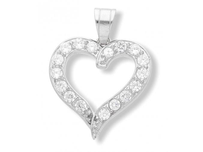 Přívěsek srdce  + dárkové balení