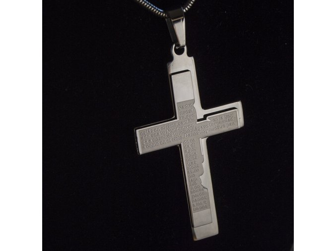 Přívěsek ocelový kříž