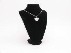 Řetízek s přívěskem srdce  + dárkové balení