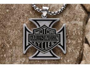 Přívěsek Harley Davidson s řetízkem + dárkové balení  + dárkové balení