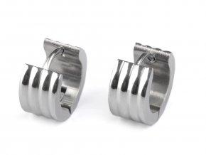 Náušnice kroužky z nerezové oceli  + dárkové balení