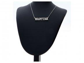 Přívěsek jméno Martina s řetízkem  + dárkové balení