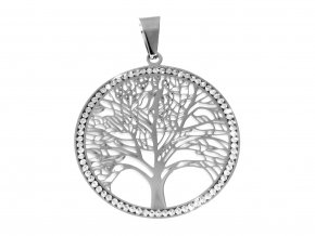Řetízek s přívěskem strom života se zirkony