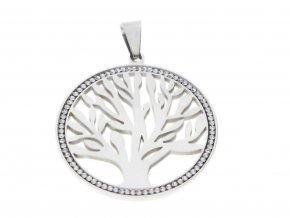 Řetízek s přívěskem strom života se zirkony  + dárkové balení