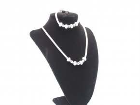 Dámsky ocelový náhrdelník s náramkem