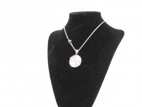Přívěsek medailon Madonka s řetízkem s krystalky + dárkové balení  + dárkové balení