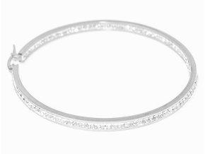 vyr 6617Nausnice z chirurgicke oceli Acier Paris kruhy s krystaly OCN 036
