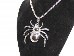 Ocelový přívěšek pavouk s řetízkem