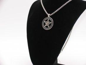 Přívěsek pentagram z chirurgické oceli