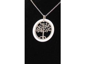 Přívěsek strom života v smaltovem kruhu s řetízkem + dárkové balení  + dárkové balení