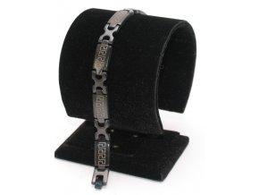 Ocelový náramek černý