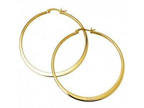 nausnice zlate ocelove kruhy 3cm