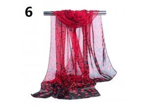 Ewena červený šátek 160x50 cm