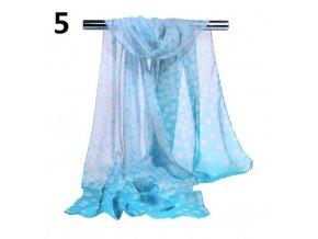 Ewena modrý šátek 160x50 cm