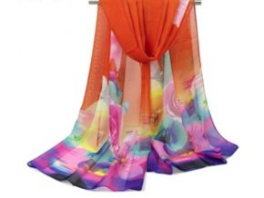 Ewena oranžový šátek 160x50 cm